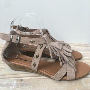 Minnetonka Shoes - Minnetonka Leather Fringe Studded Sandals